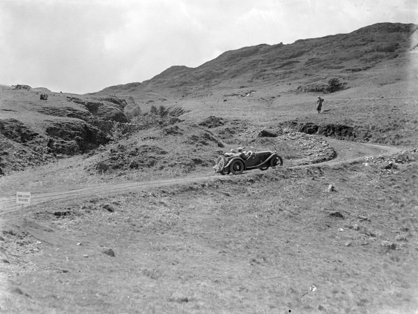 A car in action on the trial.