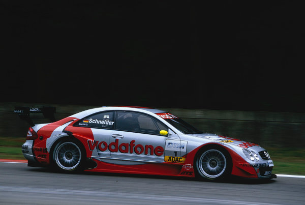 2002 DTM Championship, Zolder, Belgium. Rd 2, 4th-5th May 2002.Bernd Schneider, AMG Mercedes Benz CLK.3rd Position.World Copyright: Lawrence/LAT Photographic