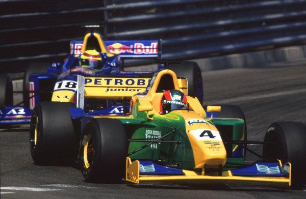 2001 F3000 ChampionshipMonte Carlo, Monaco. 26th May 2001Ricardo Sperafico (Petrobras Jnr) leads Ricardo Mauricio (Red Bull Jnr.) - action.World Copyright: Charles Coates / LAT Photographicref: 35mm Image A07