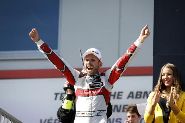 Podium: third place and Champion René Rast, Audi Sport Team Rosberg.