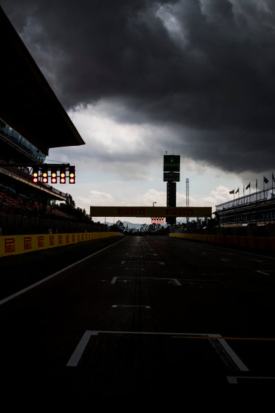 2017 GP3 Series Round 1.  Circuit de Catalunya, Barcelona, Spain. Thursday 11 May 2017. A view of the circuit with stormy skies above. Photo: Zak Mauger/GP3 Series Media Service. ref: Digital Image _54I6874
