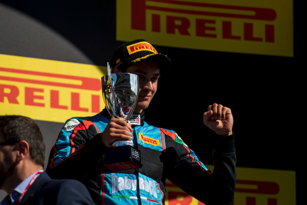 2017 GP3 Series Round 1.  Circuit de Catalunya, Barcelona, Spain. Sunday 14 May 2017. Alessio Lorandi (ITA, Jenzer Motorsport)  Photo: Zak Mauger/GP3 Series Media Service. ref: Digital Image _54I9509