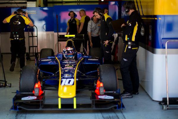 Circuit de Barcelona Catalunya, Barcelona, Spain. Tuesday 14 March 2017. Nicholas Latifi (CAN, DAMS).  Photo: Alastair Staley/FIA Formula 2 ref: Digital Image 580A1105