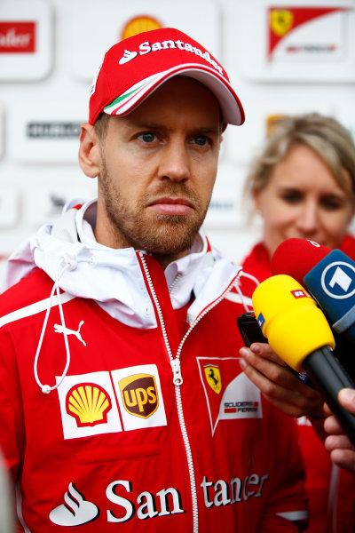 Shanghai International Circuit, Shanghai, China.  Friday 07 April 2017. Sebastian Vettel, Ferrari. World Copyright: Andy Hone/LAT Images ref: Digital Image _ONZ4337