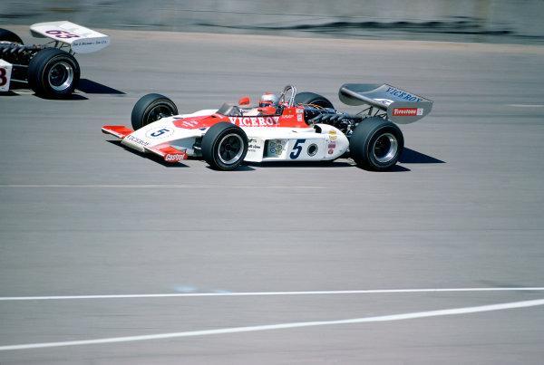 1974 USAC Indycar Series.Michigan, MI, USA. 15th September 1974.Mario Andretti (Eagle-Offenhauser).World Copyright: Murenbeeld/LAT Photographic