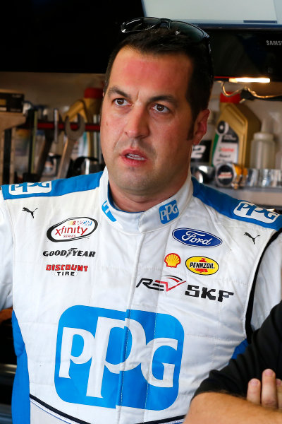NASCAR XFINITY Series Drive for the Cure 300 Charlotte Motor Speedway, Concord, NC Friday 6 October 2017 Sam Hornish Jr, PPG Ford Mustang World Copyright: Russell LaBounty LAT Images