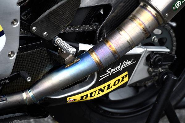 2017 Moto2 Championship - Round 16 Phillip Island, Australia. Thursday 19 October 2017 Xavi Vierge, Tech 3 Racing bike detail World Copyright: Gold and Goose / LAT Images ref: Digital Image 698220