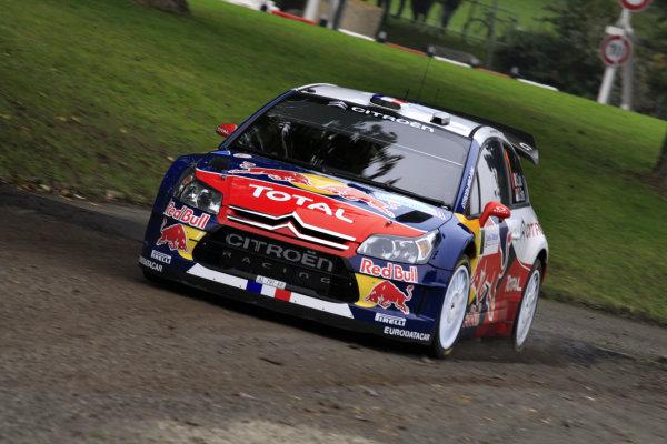 Round 11Rally de France 30/9-3/10Sebastien Loeb, Citroen WRC, Action.Worldwide Copyright: McKlein/LAT