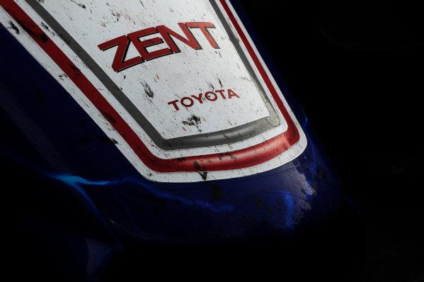 Silverstone, England. 24th - 26th August 2012. Rd 4.The car of Alexander Wurz (AUT), Nicolas Lapierre (FRA), Kazuki Nakajima (JPN), Toyota Racing, Toyota TS030 Hybrid, Detail, Technical, World Copyright: Chris Bird/LAT Photographic.Ref:  _CJB8538