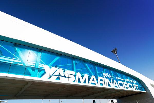 Yas Marina Circuit, Abu Dhabi, United Arab Emirates. Thursday 23 November 2017. Circuit signage. World Copyright: Sam Bloxham/LAT Images  ref: Digital Image _W6I1645