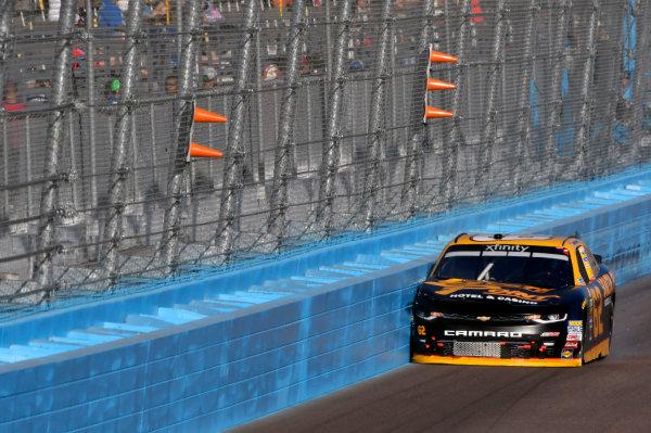 NASCAR XFINITY Series Ticket Galaxy 200 Phoenix Raceway, Avondale, AZ USA Saturday 11 November 2017 Brendan Gaughan, South Point Hotel & Casino Chevrolet Camaro wrecks World Copyright: Nigel Kinrade LAT Images