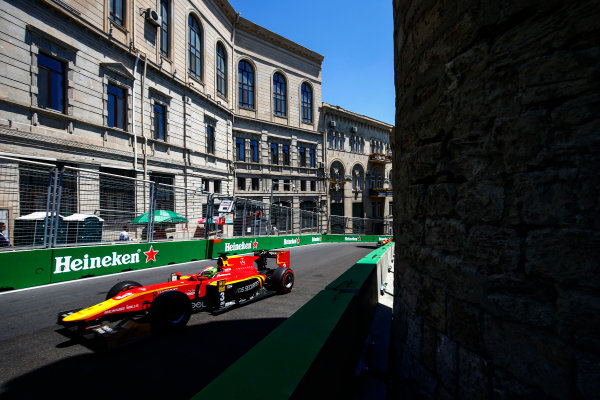 2017 FIA Formula 2 Round 4. Baku City Circuit, Baku, Azerbaijan. Sunday 25 June 2017. Louis Deletraz (SUI, Racing Engineering)  Photo: Andy Hone/FIA Formula 2. ref: Digital Image _ONY9797