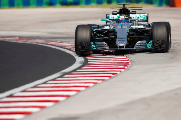 Hungaroring, Budapest, Hungary.  Tuesday 01 August 2017. Valtteri Bottas, Mercedes F1 W08 EQ Power+. World Copyright: Joe Portlock/LAT Images  ref: Digital Image _R3I0329.CR2