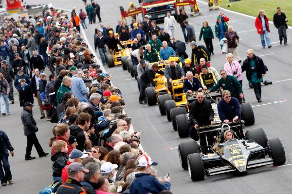 Snetterton, Norfolk. UK. 20th June 2010.Historic Team Lotus F1 Cars. World Copyright: Alastair Staley/LAT PhotographicDigital Image _O9T1686 jpg