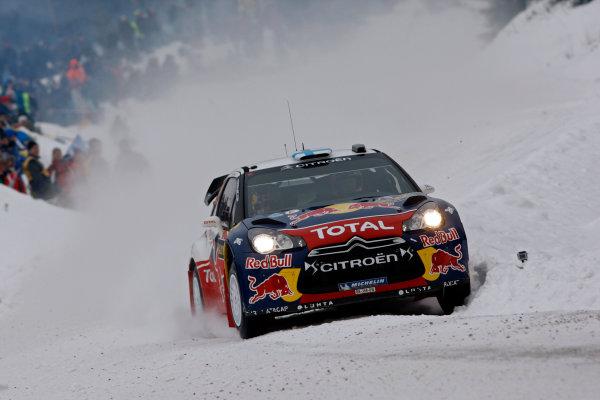 Round 02 - Rally Sweden 09-12 February 2012. Mikko Hirvonen, Citroen WRC, Action.  Worldwide Copyright: McKlein/LAT