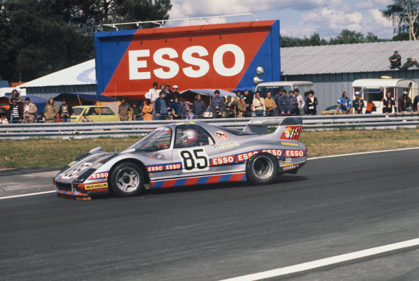 Le Mans, France. 11th - 12th June 1977 Marc Sourd/Jean-Louis Lafosse/Xavier Mathiot (WM P77 Peugeot), retired, action. World Copyright: LAT PhotographicRef: 77LM31.