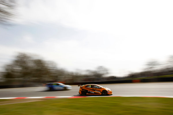 2016 British Touring Car Championship, Brands Hatch 2nd/3rd April 2016, Andy Neate (GBR) Halfords Yuasa Racing, Honda Civic Type R World Copyright. Jakob Ebrey/LAT Photographic