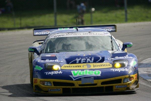 Luc Alphand (FRA) / Jerome Policand (FRA) / Patrice Goueslard (FRA) Alphand Adventures Corvette C5-R.Le Mans Series, Rd4, Donington Park, England, 28 August 2006.DIGITAL IMAGE