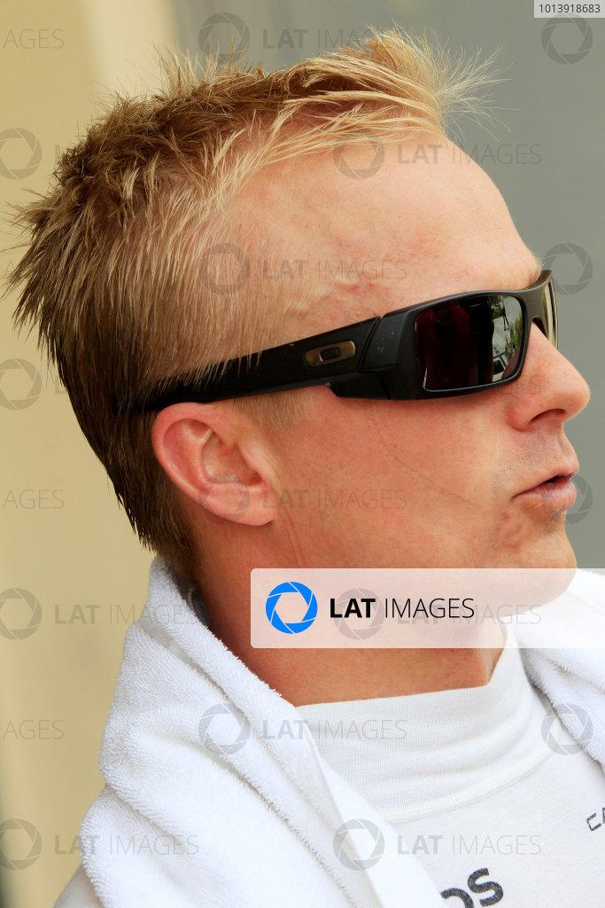 Bahrain International Circuit, Sakhir, Bahrain Friday 19th April 2013 Heikki Kovalainen, Reserve Driver, Caterham F1. World Copyright: Charles Coates/LAT Photographic ref: Digital Image _X5J2831