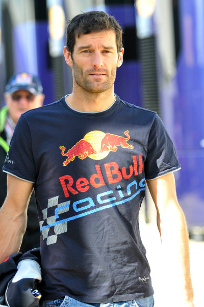 Silverstone, Northamptonshire, England 30th June 2013 Mark Webber, Red Bull Racing World Copyright: Chris Bird/  ref: Digital Image _CJB6527