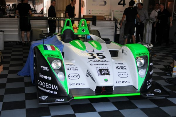 2008 Le Mans 24 Hours, Le Mans, France9th-15th JuneTeam Saulnier Racing Pescarolo Judd in Garage.Worldwide copyright: Dave Friedman/LAT PhotographicRef; Digital Image Only
