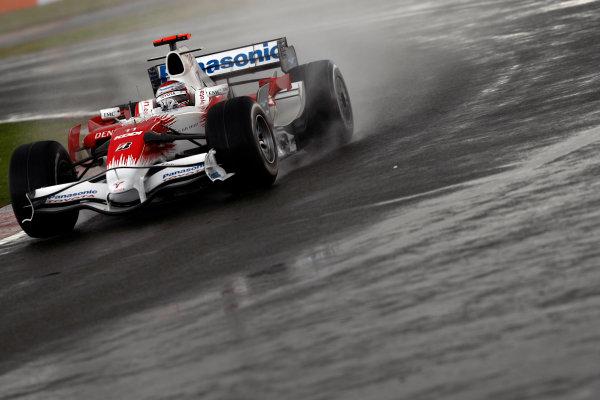 Silverstone, Northamptonshire, UK.6th July 2008.Jarno Trulli, Toyota TF108, 7th position. Action. World Copyright: Andrew Ferraro/LAT Photographic.ref: Digital Image _H0Y3516