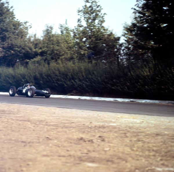Monza, Italy.16 September 1962.Graham Hill (BRM P57), 1st position.Ref-3/0669.World Copyright - LAT Photographic