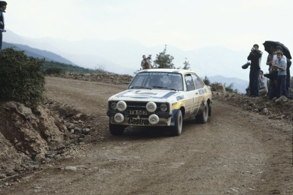 1979 World Rally Championship.Acropolis Rally, Greece. 28-31 May 1979.Bjorn Waldegaard/Hans Thorszelius (Ford Escort RS), 1st position.World Copyright: LAT Photographic