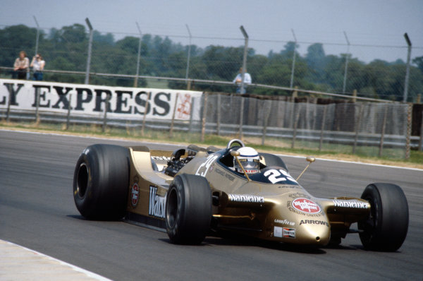 Silverstone, England. 12th - 14th July 1979.Riccardo Patrese (Arrows A2-Ford), retired, action. World Copyright: LAT Photographic.Ref:  Colour Transparency.