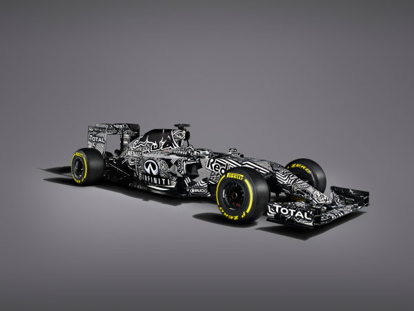 Infiniti Red Bull Racing RB11 Studio Images. Milton Keynes, UK. Friday 30 January 2015. The Red Bull Racing RB11. Photo: Red Bull Racing (Copyright Free FOR EDITORIAL USE ONLY) ref: Digital Image Red_Bull_RB11_Studio_2015_06