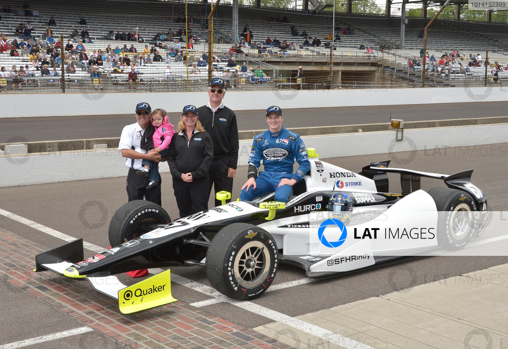 17-18 May, 2014, Indianapolis, Indiana, USA #67 Josef Newgarden, Hartman Oil/Sarah Fisher Hartman Racing with Sarah Fisher and family ©2014 Dan R. Boyd LAT Photo USA