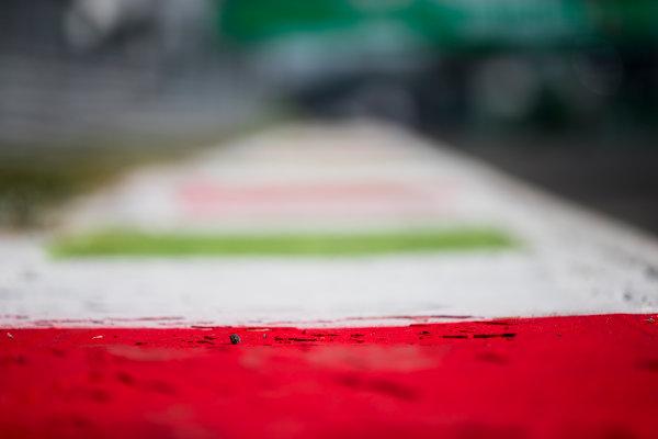 2017 GP3 Series Round 6.  Autodromo Nazionale di Monza, Monza, Italy. Thursday 31 August 2017. Kerbs. Photo: Zak Mauger/GP3 Series Media Service. ref: Digital Image _54I4855