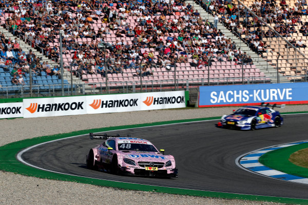 2017 DTM Round 9  Hockenheimring, Germany  Sunday 15 October 2017. Edoardo Mortara, Mercedes-AMG Team HWA, Mercedes-AMG C63 DTM  World Copyright: Alexander Trienitz/LAT Images ref: Digital Image 2017-DTM-HH2-AT2-1642