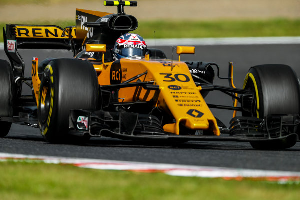 Suzuka Circuit, Japan. Sunday 08 October 2017. Jolyon Palmer, Renault R.S.17.  World Copyright: Glenn Dunbar/LAT Images  ref: Digital Image _31I8837