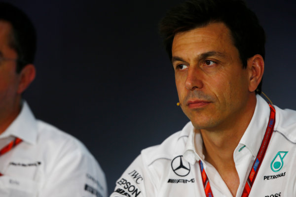 Red Bull Ring, Spielberg, Austria. Friday 07 July 2017. Toto Wolff, Executive Director (Business), Mercedes AMG, in the Friday press conference. World Copyright: Andy Hone/LAT Images ref: Digital Image _ONY9915