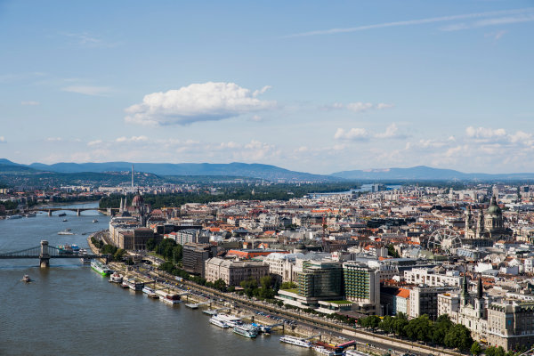 Hungaroring, Budapest, Hungary. Monday 5 June 2017. A view of the city from Citadella. World Copyright: Zak Mauger/LAT Images ref: Digital Image _56I0529