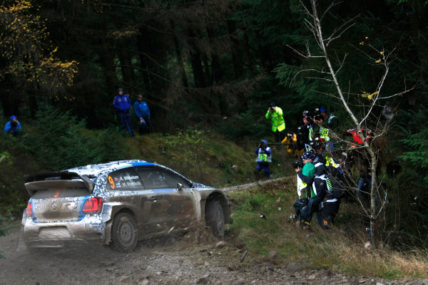 2013 FIA World Rally Championship Round 13-Wales Rally GB 14-17 November 2013 Andreas Mikkelsen,  VW WRC, Action.  Worldwide Copyright: McKlein/LAT