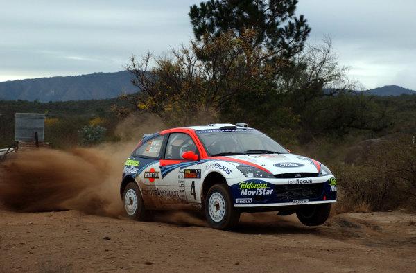 World Rally Championship, Rally of Argentina, May 17-20, 2002.Carlos Sainz during shakedown.Photo: Ralph Hardwick/LAT