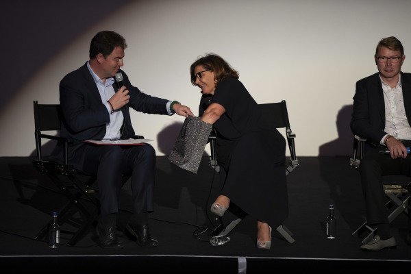 James Allen and Michele Mouton on stage