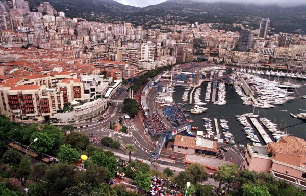 1998 Monaco Grand Prix.Monte Carlo, monaco.21-24 May 1998.An overview of the harbour and the street circuit from the Royal Palace.World Copyright - LAT Photographic