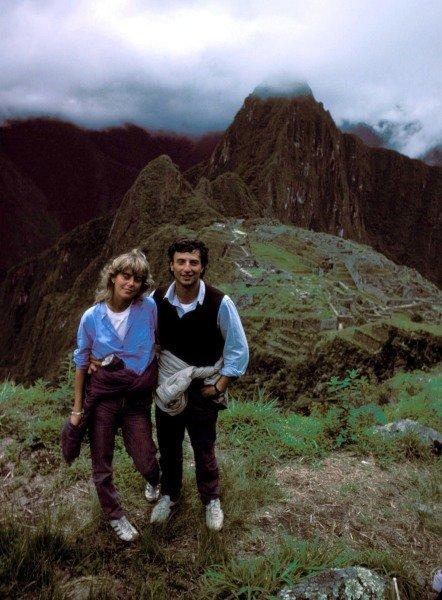 Machu Picchu, Peru. 1983. Riccardo Patrese and his wife Susi visit the Inca ruins28/03/1983