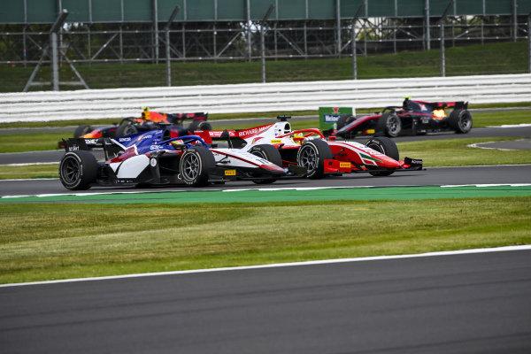 Mick Schumacher (DEU, PREMA RACING), battles with Louis Deletraz (CHE, CHAROUZ RACING SYSTEM)