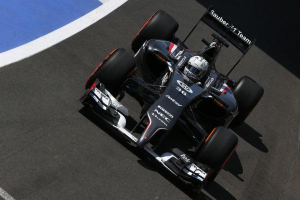 Giedo van der Garde (NED) Sauber C33. Formula One World Championship, Rd9, British Grand Prix, Practice, Silverstone, England, Friday 4 July 2014.