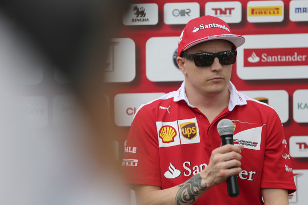 Kimi Raikkonen (FIN) Ferrari at Formula One World Championship, Rd1, Australian Grand Prix, Preparations, Albert Park, Melbourne, Australia, Thursday 17 March 2016.