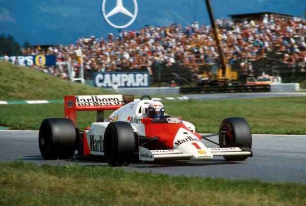 Alain Prost (GBR) McLaren MP4/2C ended up winning the race by an entire lap.  Austrian Grand Prix, Osterreichring, Austria, 17 August 1986.