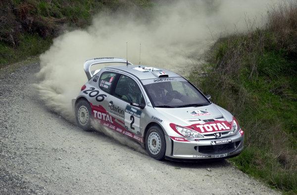 2001 World Rally Championship.Rally of New Zealand. September 20-23, 2001.Auckland, New Zealand.Didier Auriol during shakedown.Photo: Ralph Hardwick/LAT
