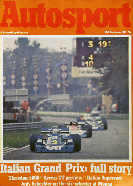 Cover of Autosport magazine, 16th September 1976
