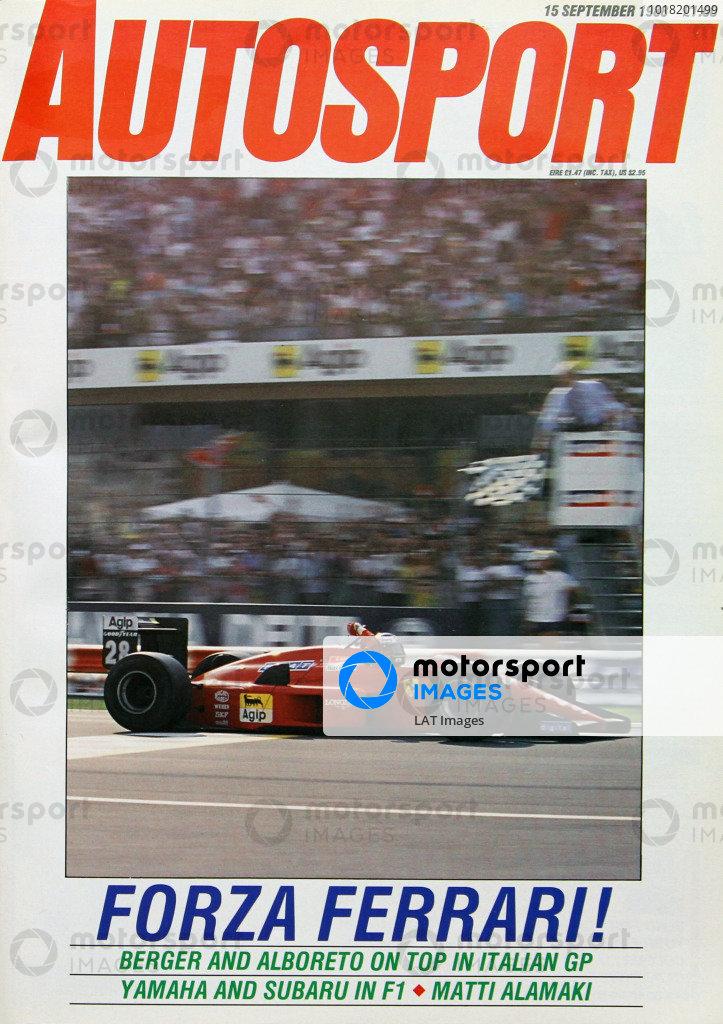 Cover of Autosport magazine, 15th September 1988