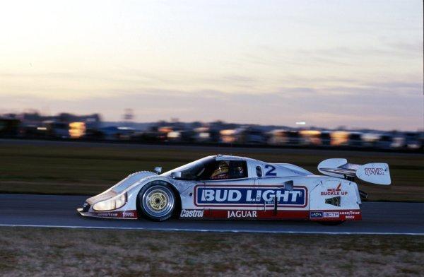 Scott Pruett (USA) Jaguar XJR-12D, 2nd place.IMSA GTP Championship, Rd1, Daytona 24 Hours, Daytona Beach, Florida, USA. 2 January 1992.BEST IMAGE