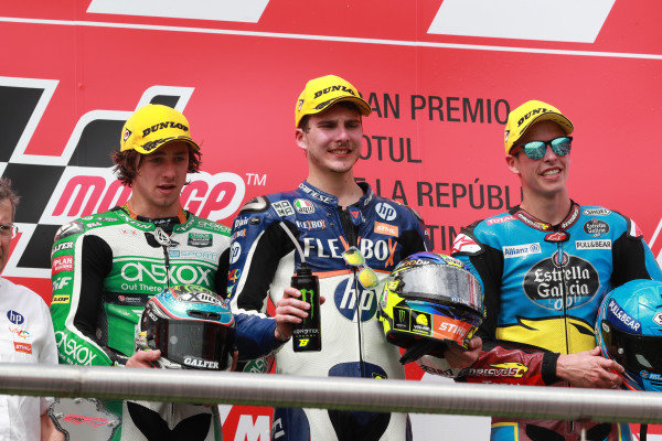 Podium: winner Lorenzo Baldassarri, Pons HP40, second place Remy Gardner, SAG Racing Team, third placeAlex Marquez, Marc VDS Racing.
